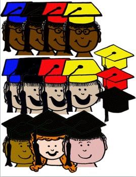 The Grad Kids~ Graduation Clip Art