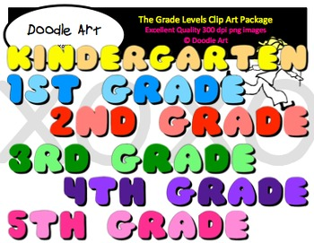 The Grade Levels Clipart Pack