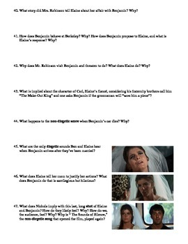 The Graduate Film (1967) Study Guide Movie Packet