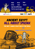 Ancient Egypt  activities Learning , Sphinx History, 55 pa
