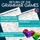 The Grammar Games Dice Board Bundle with Editable Template