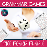 The Grammar Games Dice Boards with Editable Template