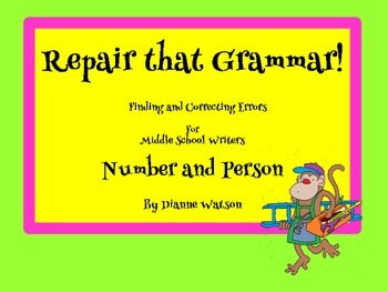 Repair that Grammar !  Finding & Correcting Errors in Number and Person