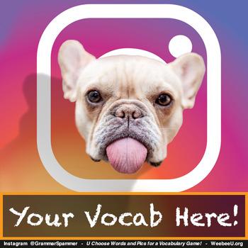 """Grammar Spammer"": FREE Classroom Vocabulary Games for Instagram Millennials!"