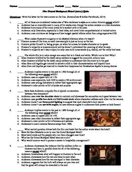 The Grand Budapest Hotel Film (2014) 15-Question Multiple Choice Quiz
