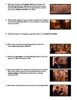 The Grand Budapest Hotel Film (2014) Study Guide Movie Packet