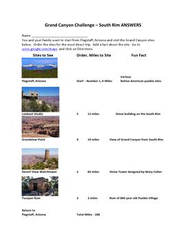 The Grand Canyon Challenge Webquest