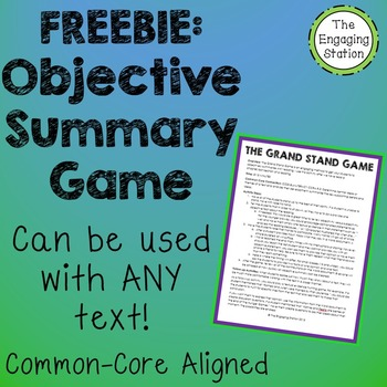 The Grand Stand Objective Summary Game