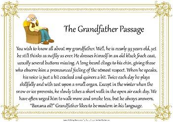 The Grandfather Passage Speech Pathology Voice Resource