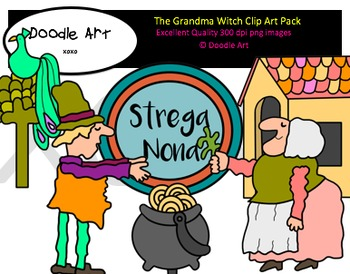 The Grandma Witch Clipart Pack