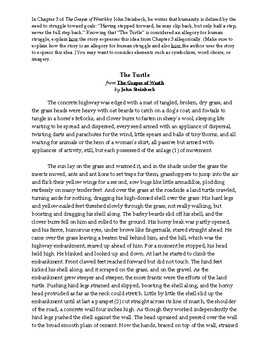 The Grapes of Wrath AP Style Essay (Prose Response)