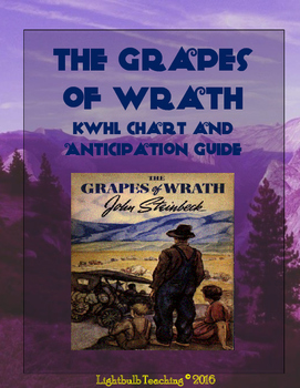 The Grapes of Wrath Anticipation Guide and KWHL Chart