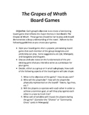 The Grapes of Wrath - Board Game Creation