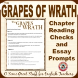The Grapes of Wrath Chapter Reading Checks and Essay Prompts
