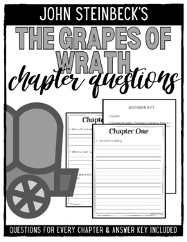 The Grapes of Wrath Chapter Questions