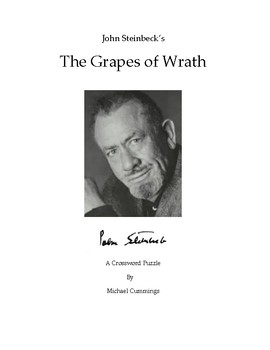 The Grapes of Wrath: Two Crossword Puzzles