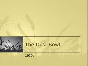 The Grapes of Wrath - Dustbowl Background PowerPoint