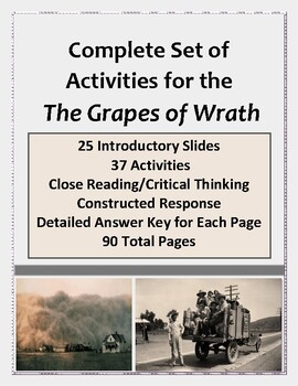 The Grapes of Wrath:  Activities for Close Reading and Critical Thinking