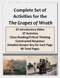 The Grapes of Wrath: Full Novel Set Close Reading & Critic