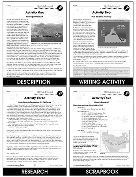 The Grapes of Wrath - Literature Kit Gr. 9-12 - BONUS WORKSHEETS