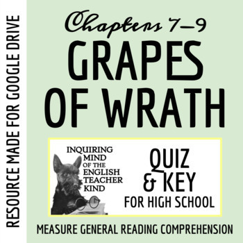 The Grapes of Wrath Quiz - Chapters 7-9