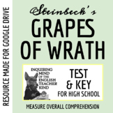 The Grapes of Wrath Test & Key (Word Document, Google Document & PDF)