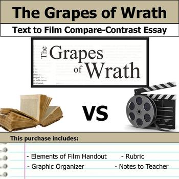 Topics For High School Essays The Grapes Of Wrath  Text To Film Essay English Essay Example also Business Management Essays The Grapes Of Wrath  Text To Film Essay By S J Brull  Tpt Essay Examples For High School Students
