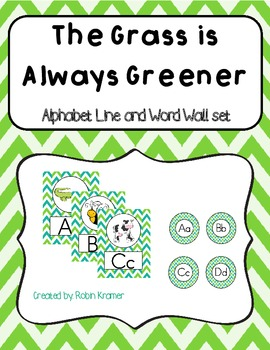 The Grass is Always Greener Alphabet Line and Word Wall Header Set