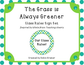 The Grass is Always Greener - Whole Brain Learning Inspired Rule Signs
