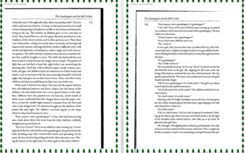 The Grasshopper and The Bell Cricket text and guided reading questions #1-9