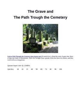 The Grave and The Path Through the Cemetery Creepy Comparison
