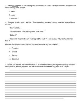 The Graveyard Book Ch. 5 Quiz: Danse Macabre