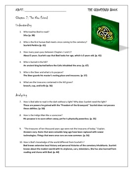 The Graveyard Book Chapter 2 Study Questions for Novel Unit