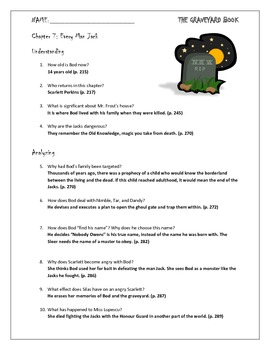 The Graveyard Book Chapter 7 Study Questions for Novel Unit