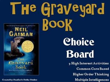 The Graveyard Book Choice Board Novel Study Activities Menu Book Project