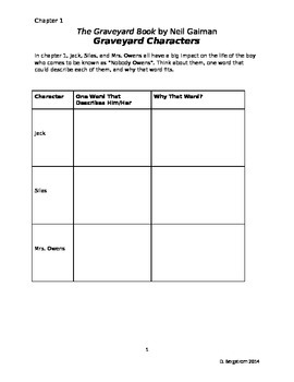 """The Graveyard Book"" Novel Study Plan"