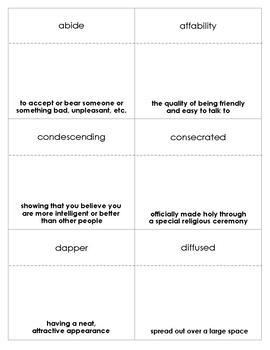 The Graveyard Book Vocabulary Bingo