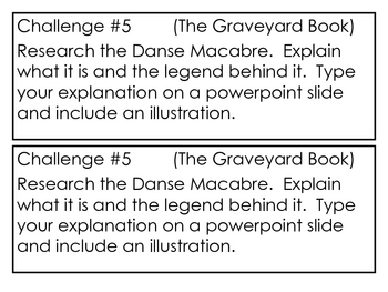 """The Graveyard Book"", by N. Gaiman, Project Challenges"