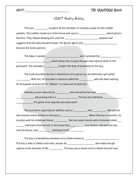 CLOZE Reading Activity for The Graveyard Book by Neil Gaiman