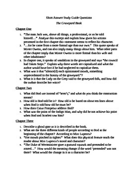 """The Graveyard Book"" by Neil Gaiman Study Guide Questions"