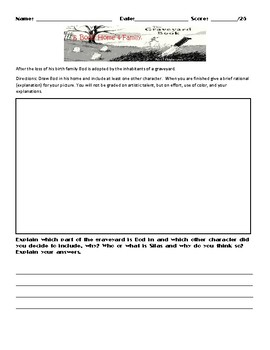 The Graveyard Book by Neil Gaiman Worksheets, Art Projects, & Assessment Unit