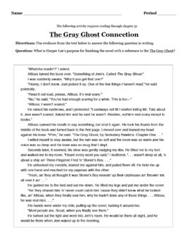The Gray Ghost Text-Based Writing Chapter 31 To Kill a Mockingbird