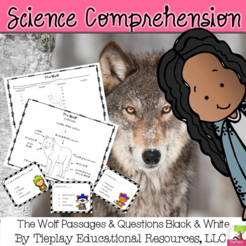 Gray Wolf Nonfiction Passages and Comprehension Questions No Prep