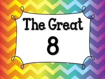The Great 8 Rainbow Chevron with Color Changes