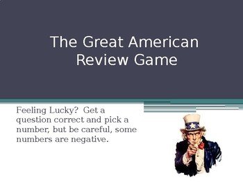 The Great American Review Game