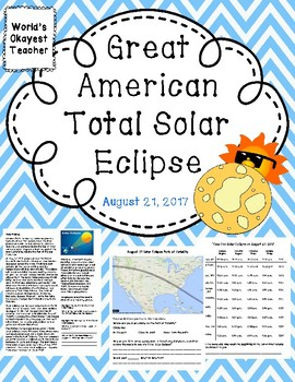 The Great American Total Solar Eclipse: August 21, 2017