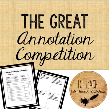 The Great Annotation Competition: Highly Engaging Activity for ANY text!