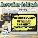 The Great Australian Goldrush Informative Powerpoint