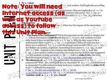 The Great Australian Goldrush Lapbook Activities and Unit Plan