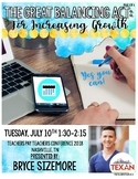 The Great Balancing Act for Increasing Growth